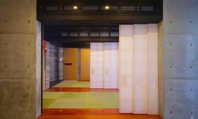 『N Residence』柔らかな光に満たされた二世帯住宅 (スタイリッシュな和室-1)