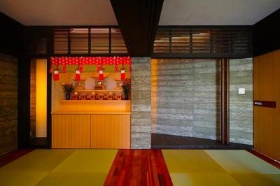 スタイリッシュな和室-2 (『N Residence』柔らかな光に満たされた二世帯住宅)