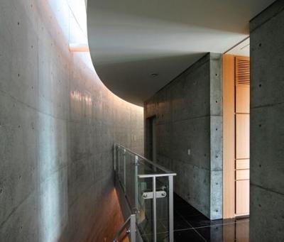 クールな2階ホール-1 (『N Residence』柔らかな光に満たされた二世帯住宅)