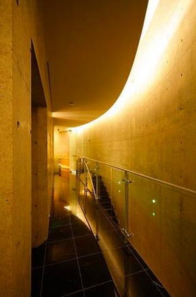 クールな2階ホール-2 (『N Residence』柔らかな光に満たされた二世帯住宅)