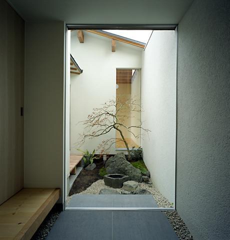 彩 庵の部屋 落ち着きのある坪庭