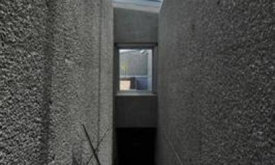 ステップテラスの家 La Casa della Terrazza Scalinata -by mcja (地階迄光を導くガラスの階段)