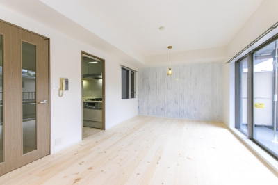 北欧Style+和室=ギャップを楽しむ家。 (リビング)