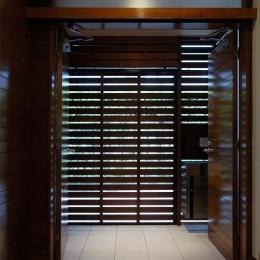 目黒区リノベーション (玄関)
