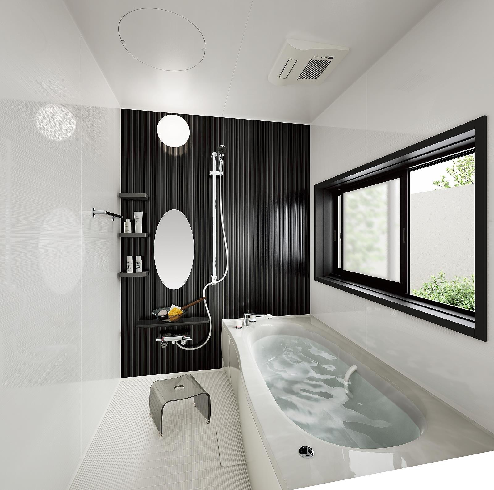 アーバンスタイルの部屋 リラックスできるバスルーム