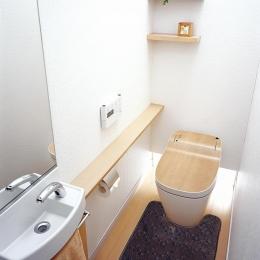 カントリーテイスト (シンプルなトイレ)