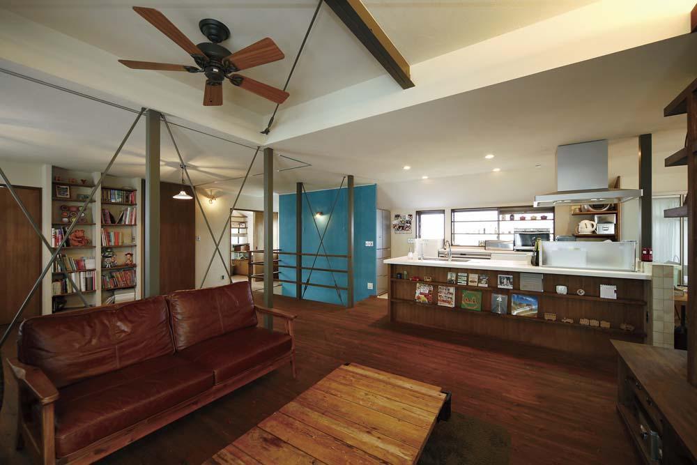 リノベーション・リフォーム会社:One's Life ホーム「難しい鉄骨造からオープン空間の間取り変更が実現!」