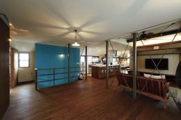 難しい鉄骨造からオープン空間の間取り変更が実現! (こだわりの床と壁と天井)