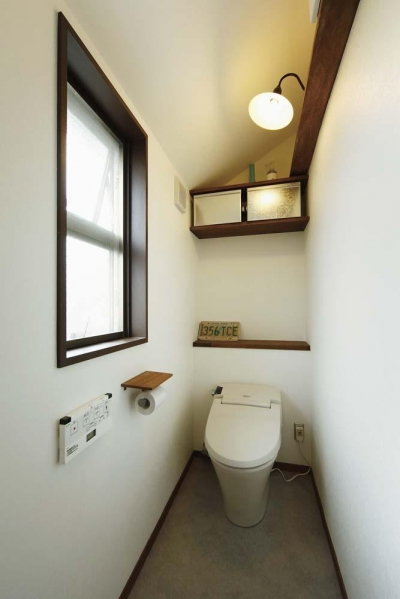難しい鉄骨造からオープン空間の間取り変更が実現! (トイレ)