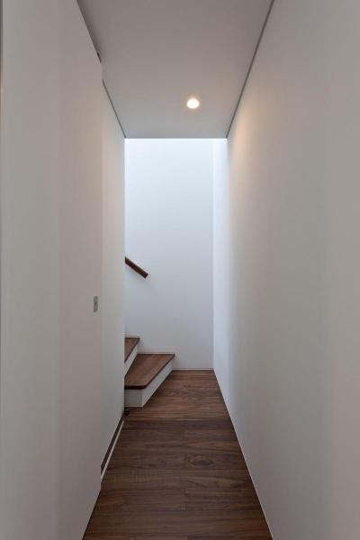 緑に浮かぶの家 (廊下)