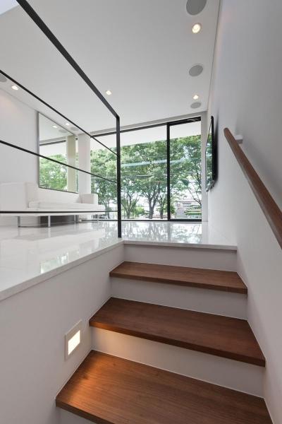 緑に浮かぶの家 (階段)