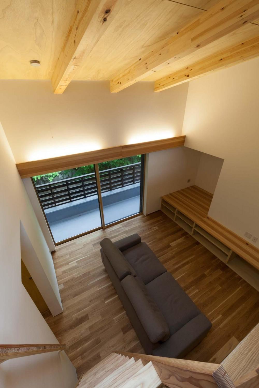 旧軽井沢の家 (リビング)