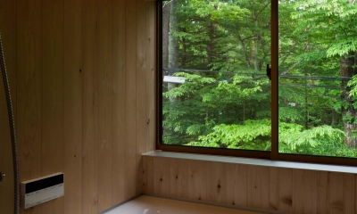 旧軽井沢の家 (浴室)