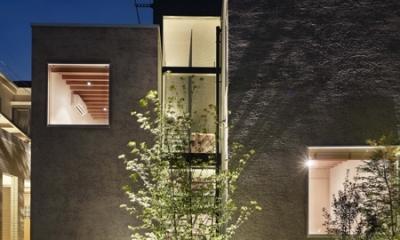 荻窪の家 (外観夜景)