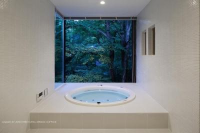 浴室夕景 (035カルイザワハウス)