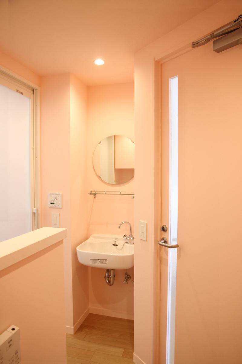 50㎡のワンルームの部屋 コンパクトな洗面台