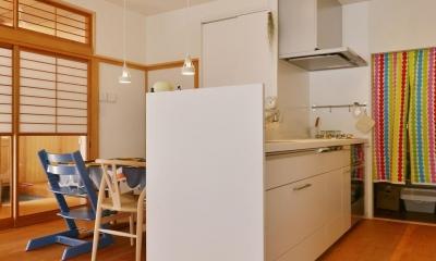 横浜市M様邸 ~和風住宅×北欧ほっこりcolor~ (キッチン)