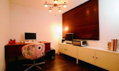 ミッドセンチュリーの家具に合わせた、60's Style提案 (書斎)