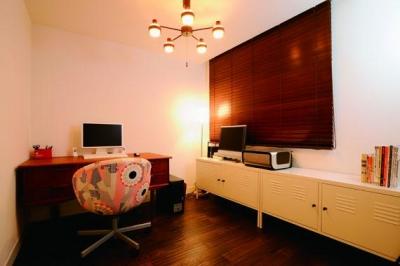 書斎 (ミッドセンチュリーの家具に合わせた、60's Style提案)