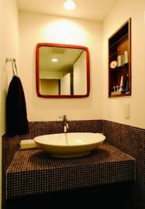 ミッドセンチュリーの家具に合わせた、60's Style提案の部屋 洗面台