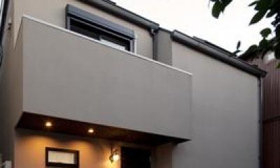 黒皮のソファが似合う家:杉並区K様邸