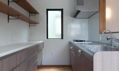 黒皮のソファが似合う家:杉並区K様邸 (キッチン)