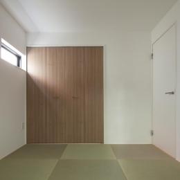 黒皮のソファが似合う家:杉並区K様邸 (和室)