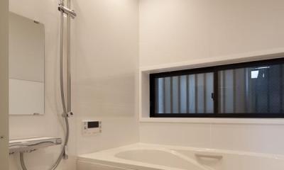 黒皮のソファが似合う家:杉並区K様邸 (浴室)