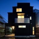 フォルムがユニークでコケティッシュなデザインハウス:杉並区M様邸の写真 外観
