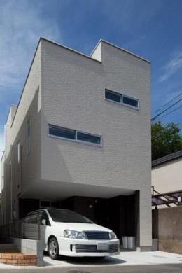 フィルムの美しい階段のある注文住宅:杉並区T様邸 (外観)