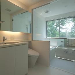 スタイリッシュなデザイン住宅・光の満ちる贅沢空間:杉並区K様邸-バス トイレ
