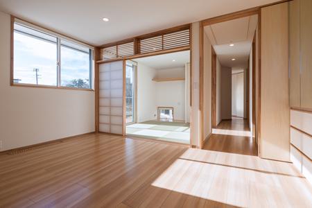 郡山・向作の家の部屋 寝室と和室