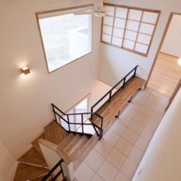 郡山・向作の家 (階段とベンチ)