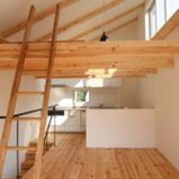 木造注文住宅 片流れ屋根の家 (開放的で明るい空間)