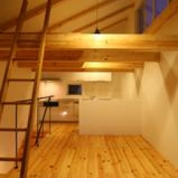 木造注文住宅 片流れ屋根の家