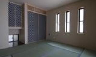 木造注文住宅 坪庭が眺められる家 (和室)