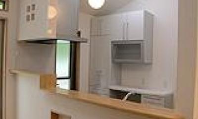 木造注文住宅 箱の家 (明るいキッチン)