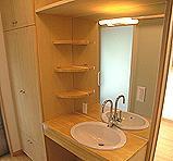 木造注文住宅 箱の家の部屋 こだわりの洗面台