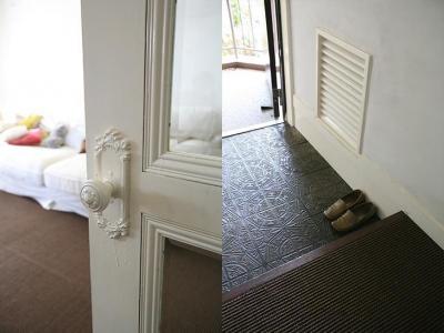 こだわりを表現できるドアノブ、玄関 (F邸)