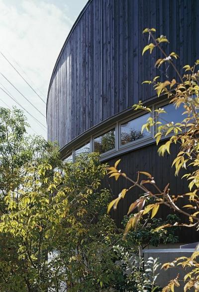 『岳見の家』~雑木林につつまれた住まい~ (連窓の様子)