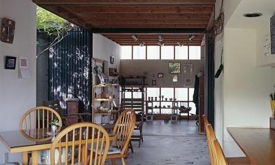 『知多の家』~緑のオアシス~(gallery & dining cafe) (カフェから中庭・ダイニング 2)