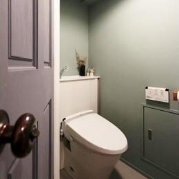 シックにまとまったトイレ
