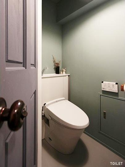 Little Gardenの部屋 シックにまとまったトイレ