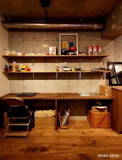 VINTAGE × 古箱の部屋 造作のバックカウンター
