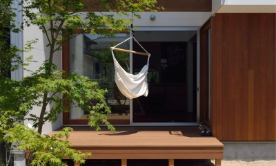 ウッドデッキ 桜水の家