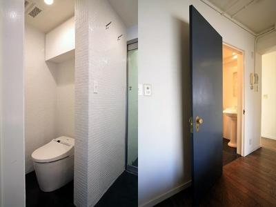 トイレ&重厚感のあるドアカラー (U邸)