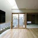 天窓から光が差し込む空間