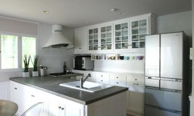 N邸 (シンプルだけど細部にまでこだわりを表現したキッチン)