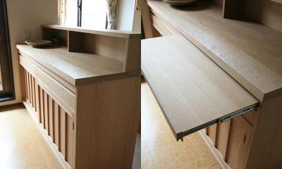 K邸 (キッチン収納&作業台スペース)