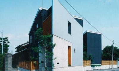 三角敷地の家 キッチンスタジオ (母屋の西の変形地に建てた住宅)